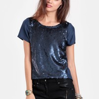 Shine On Sequined Blouse