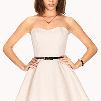 Luxe A-Line Dress w/ Belt