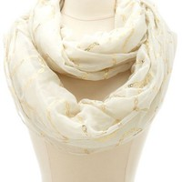 FOILED CHAIN INFINITY SCARF