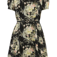 Oriental Fan Flower Skater Dress