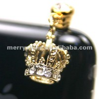 Swarovski Crystal Dust Plug!gold Crown Dust Plug For Iphone/ipad - Buy Crystal Dust Plug,Dust Plug For Iphone,Dust Plug For Ipad Product on Alibaba.com