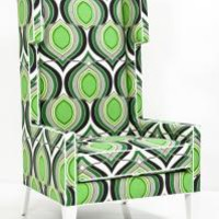 www.roomservicestore.com - Tangier Wing Chair in Green Floral Damask