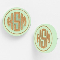 Moon and Lola 'Chelsea' Medium Personalized Monogram Stud Earrings (Nordstrom Exclusive) | Nordstrom