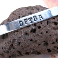 DFTBA - Hand Stamped Nerdfighters Inspired Bracelet