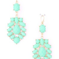 Acrylic Mint Stone Earrings - Kely Clothing
