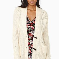 Perfect Study Cardi - Cream