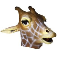 Deluxe Latex Animal Mask - Giraffe -Adult