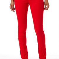 Britt Low-Rise Skinny Jean Red