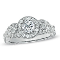 1-1/3 CT. T.W. Diamond Framed Engagement Ring in 14K White Gold