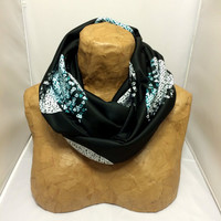 Black Knit Scarf - The Two Moons of Tatooine Infinity Scarf