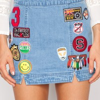 Babe Patch denim skirt