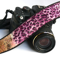 Leopard Print Camera Strap. Canon Camera Strap. Cheetah Camera Strap. Women Accessories.