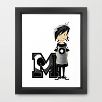 Mod Girl Illustration Framed Art Print by markmurphycreative