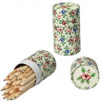 Set Of 36 Rambling Rose Design Colouring Pencils | DotComGiftShop