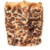 Beige Cheetah Print – Fluffy Wuffies Classic Tall Boots