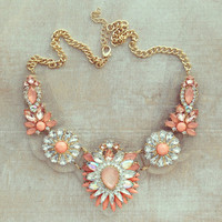 Pree Brulee - Clear Bib NYC Statement Necklace