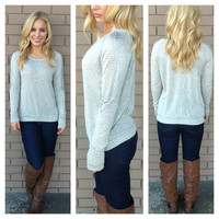 Antique Silver Stud Long Sleeve Top