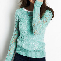 Cora Pointelle Tunic Sweater