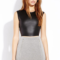 Rebel Faux Leather Crop Top