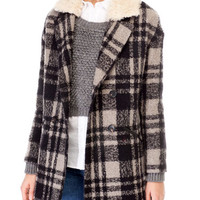 Checkered coat - COATS - COLLECTION -Stradivarius United Kingdom