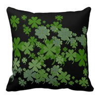 Charming Green Throw Pillow