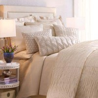"ISABELLA COLLECTION - ""Ivoire Origami"" Bed Linens - Horchow"