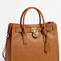 Women's MICHAEL Michael Kors 'Hamilton - Large' Saffiano Leather Tote