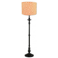 Hyde Park Tangerine and Black Floor Lamp