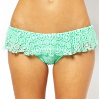 South Beach Lace Bandeau Bikini Top