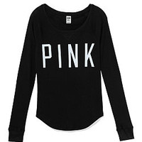Thermal Sleep Raglan Tee - PINK - Victoria's Secret