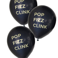 POP FIZZ CLINK New Year's Eve Balloons