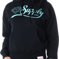 Diamond Supply Girls Diamondaire Black Pullover Hoodie at Zumiez : PDP