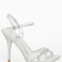 Open Toe Dressy High Heel with Rhinestone Bands