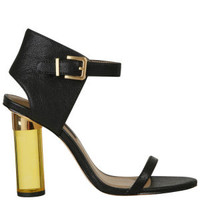 Senso Women's Sasha Perspex Heels - Black/Yellow Clothing - FREE UK Delivery