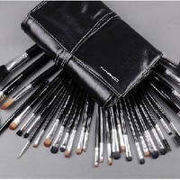 Mac 32 Pieces Brush Set with Soft Leather Case and Brushes Are Numerberd