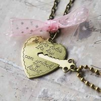 Key to My Heart - Heart and Key Couple&#x27;s Necklace