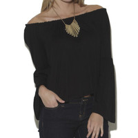 Long Bell Sleeve Peasant Top - WetSeal
