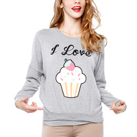 Papaya Clothing Online :: I LOVE CUPCAKE GRAPHIC TOP