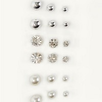 Crystal Pearl Earring 9-Pack | Earrings | rue21
