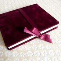 Little Red Velvet Book by AlternativeJournals on Etsy