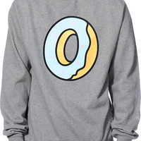 Odd Future Single Donut Heather Grey Crew Neck Sweatshirt