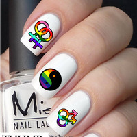 Gay Pride Nail decal