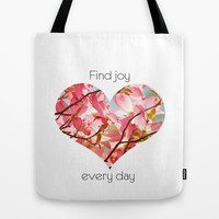 Find Joy Tote Bag by Zen and Chic