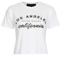 Petite Los Angeles Crop Tee