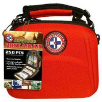 Total Resources International 250-Piece Outdoor First Aid Kit in Red EVA Case