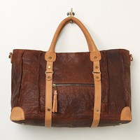 Distressed Leather Weekender