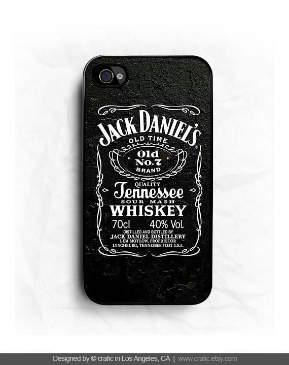 Jack Daniel Whiskey iPhone Hard Case / Fits iPhone 4 4s by CRAFIC