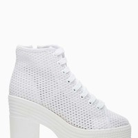 Asif Platform Boot - White