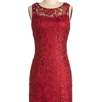 A Sweet Aperitif Dress in Cherry | Mod Retro Vintage Dresses | ModCloth.com