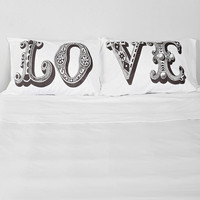 The Rise And Fall Love Pillowcase - Set Of 2 - Urban Outfitters